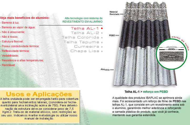 exemplo de ecoproduto telha
