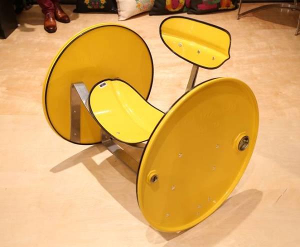 Barril amarelo - cadeira