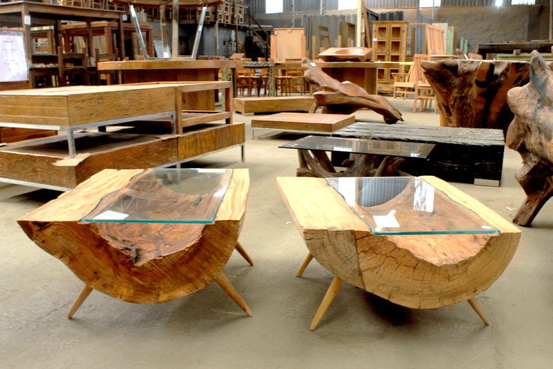 Mais claro - mesa móveis rústicos