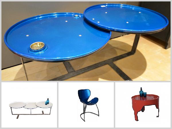Tampa mesa azul