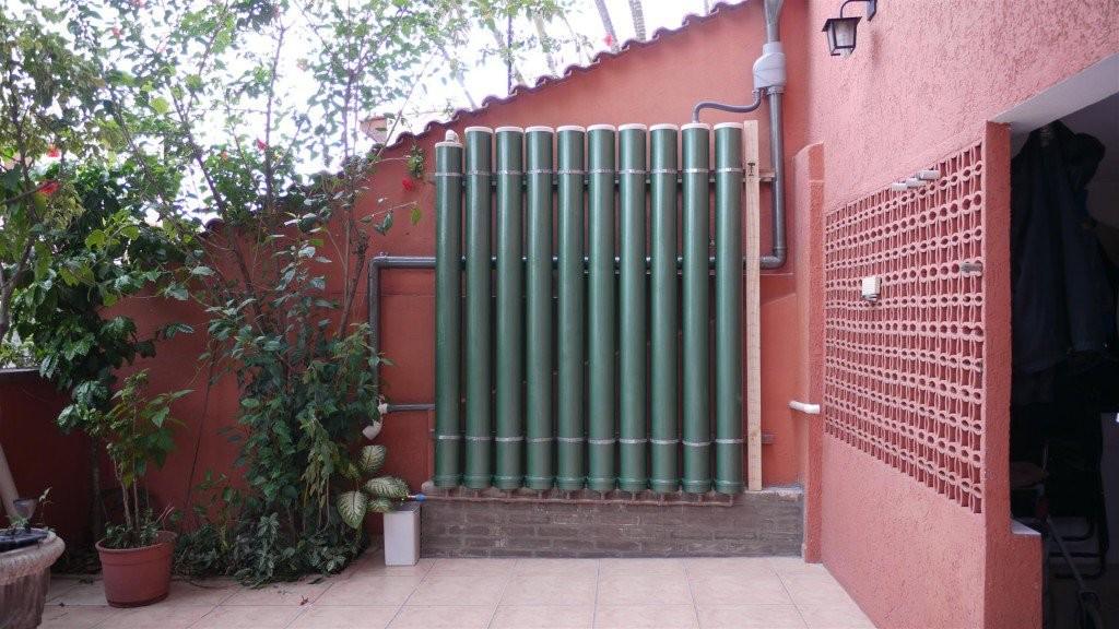 Sistema vertical – captação água chuva